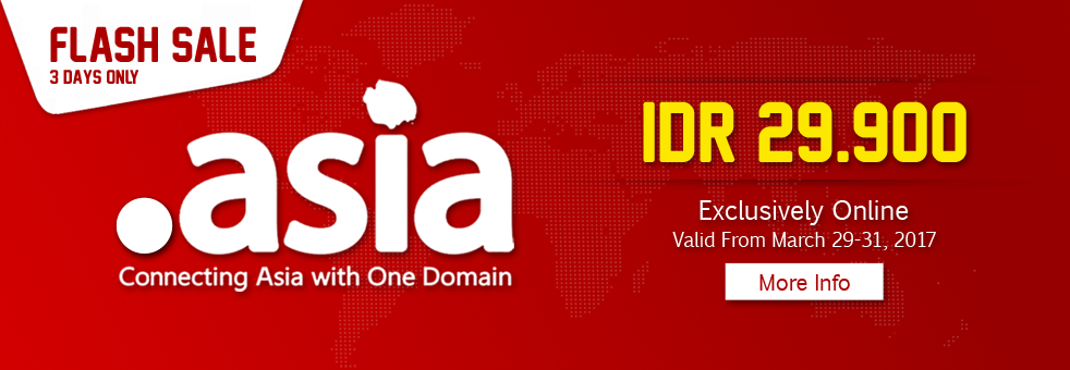 Flash Sale Domain .ASIA Maret 2017