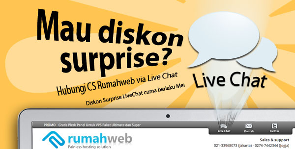 Diskon Surprise Livechat