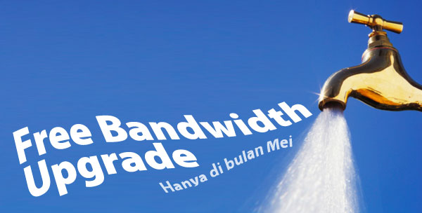 Gratis Bandwidth Upgrade